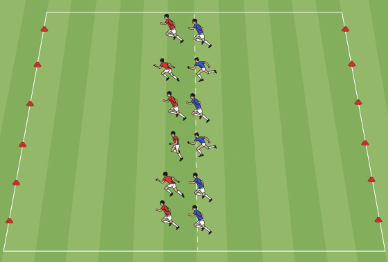 Two yard tag game warm up