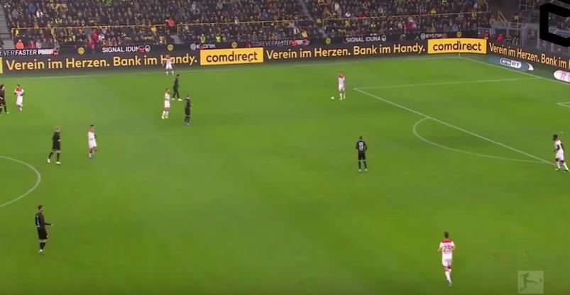 Dortmund front three pressing high